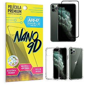 Kit Película Premium Nano 9D para iPhone 11 Pro Max 6.5 + Capa Anti Impacto - Armyshield