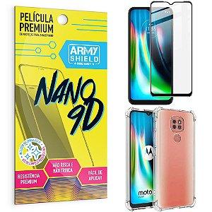 Kit Película Premium Nano 9D para Moto G9 Play + Capa Anti Impacto - Armyshield