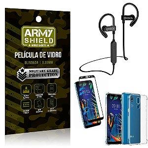 Kit Fone Bluetooth Hrebos HS188 LG K12 K12 Plus + Película 3D + Capa Anti Impacto - Armyshield