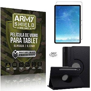 Kit Capa Giratória + Película de Vidro Galaxy Tab S7 11.0' T870 T875 - Armyshield