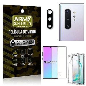 Kit Película de Câmera Galaxy Note 10 Plus + Película 3D + Capa Anti Impacto - Armyshield