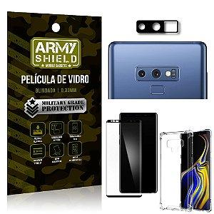Kit Película de Câmera Galaxy Note 9 + Película 3D + Capa Anti Impacto - Armyshield