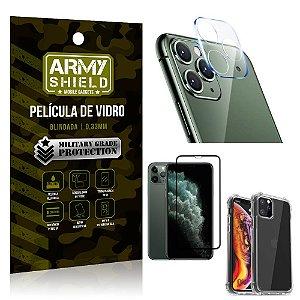 Kit Película de Câmera iPhone 11 Pro 5.8 + Película 3D + Capa Anti Impacto - Armyshield