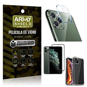 Kit Película de Câmera iPhone 11 Pro Max 6.5 + Película 3D + Capa Anti Impacto - Armyshield