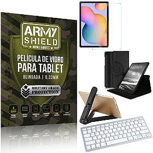 Kit Suporte Dobrável Tab S6 Lite 10.4 P610/P615 + Teclado sem fio + Capa + Película Armyshield