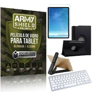 Kit Suporte Dobrável Tab S7 11.0' T870 T875 + Teclado sem fio + Capa + Película Armyshield