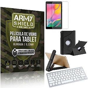 Kit Suporte Dobrável + Tab A 8.0' T295/T290 + Teclado sem fio + Capa + Película Armyshield