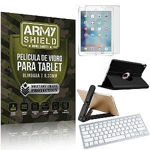 Kit Suporte Dobrável +  iPad Air 2019 10.5' + Teclado sem fio + Capa + Película Armyshield