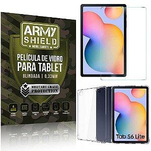 Kit Capa Anti Impacto + Película de Vidro Galaxy Tab S6 Lite 10.4 P610 P615 - Armyshield