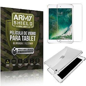 Kit Capa Anti Impacto + Película de Vidro iPad 2019 10.2' 7a Geração - Armyshield