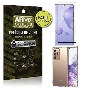 Kit Película 3D Fácil Aplicação Galaxy Note 20 Ultra Película 3D + Capa Anti Impacto - Armyshield
