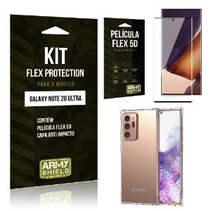 Kit Flex Protection Galaxy Note 20 Ultra Capa Anti Impacto + Película Flex 5D - Armyshield