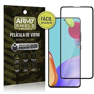 Película de Vidro 3D para Galaxy A52 Fácil de aplicação - Armyshield