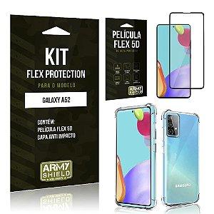 Kit Flex Protection Galaxy A52 Capa Anti Impacto + Película Flex 5D - Armyshield