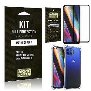 Kit Full Protection Moto G 5G Plus Película de Vidro 3D + Capa Anti Impacto - Armyshield