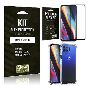 Kit Flex Protection Moto G 5G Plus Capa Anti Impacto + Película Flex 5D - Armyshield