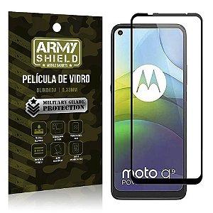 "Película de Vidro Blindada para Moto G9 Power tela 6,8"" Full Cover - Armyshield"