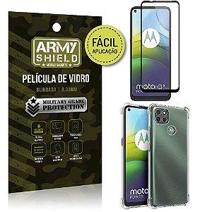Kit Película 3D Fácil Aplicação Moto G9 Power Película 3D + Capa Anti Impacto - Armyshield