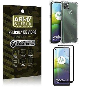 Kit Anti Impacto Moto G9 Power Capinha Anti Impacto + Película de Vidro 3D - Armyshield
