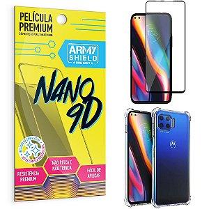 Kit Película Premium Nano 9D para Moto G 5G Plus + Capa Anti Impacto - Armyshield