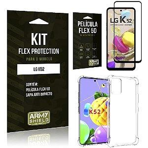 Kit Flex Protection LG K52 Capa Anti Impacto + Película Flex 5D - Armyshield