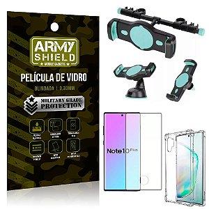 Kit Suporte Veicular 3 em 1 Galaxy Note 10 Plus + Película 3D + Capa Anti Impacto - Armyshield