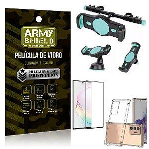 Kit Suporte Veicular 3 em 1 Galaxy Note 20 Ultra + Película 3D + Capa Anti Impacto - Armyshield