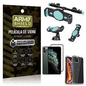 Kit Suporte Veicular 3 em 1 iPhone 11 Pro 5.8 + Película 3D + Capa Anti Impacto - Armyshield