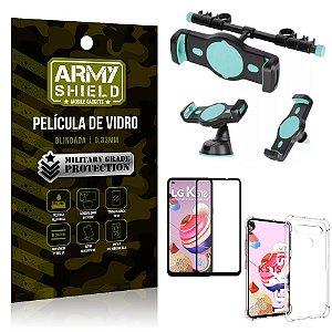 Kit Suporte Veicular 3 em 1 LG K51s + Película 3D + Capa Anti Impacto - Armyshield