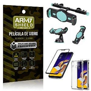 Kit Suporte Veicular 3 em 1 Zenfone 5 ZE620KL + Película 3D + Capa Anti Impacto - Armyshield