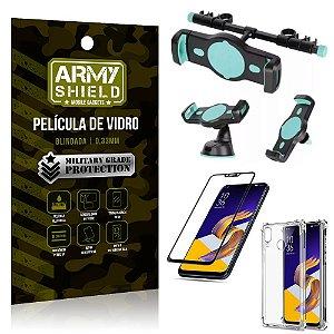 Kit Suporte Veicular 3 em 1 Zenfone 5Z ZS620KL + Película 3D + Capa Anti Impacto - Armyshield