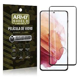 "Película de Vidro Blindada para Galaxy S21 Plus tela 6,7"" Full Cover - Armyshield"