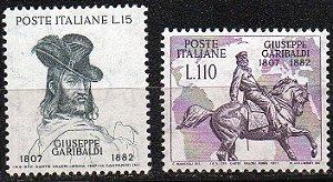 1957 Itália 150 anos de Nascimento de G Garibaldi