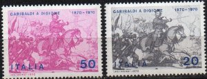 1970 Itália - Série 100 anos da participação de G Garibaldi na Batalha Franco-prussiana