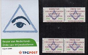 2006 Holanda - 250 anos da Maçonaria cartela - escassa