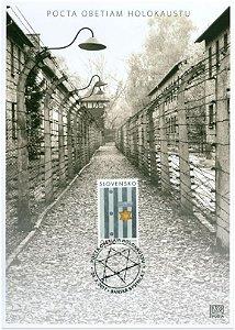 2017 Eslováquia - Homenagem às vítimas do Holocausto - máximo postal novo