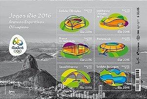 2016 - Blocos Série América: Jogos Rio 2016 Arenas Olímpicas e Paralímpicas America Series: Rio 2016 Olympic and Paralympic Games Sporting Arenas Blocks