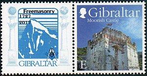 2017 - Gibraltar  - Maçonaria - 290 anos