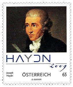 2009 Áustria 200º aniversário da morte do maçom Joseph Haydn