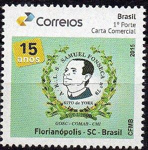 2016 15 anos da Loja Maçônica Samuel Fonseca - Florianópolis/SC Selo personalizado
