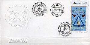 2017 Envelope (Olho-de-boi) 50 anos da Loja Maçônica Abolição e Independência GOSP