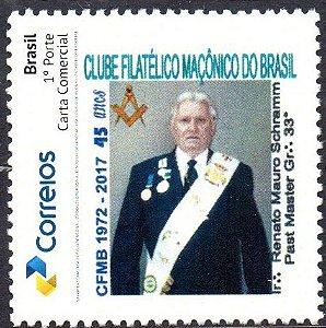 2017 45 anos do Clube Filatélico Maçônico do Brasil - Homenagem ao seu Presidente
