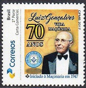 2017 O Maçom mais antigo do Brasil - Luiz Gonçalves 70 anos de vida maçônica - franco-mason for 70 years