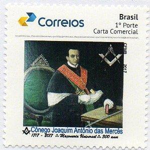 2017 Homenagem ao maçom Cônego Joaquim das Mercês - Selo Personalizado