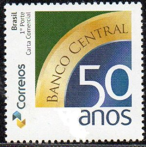 2015 50 anos do Banco Central - Selo personalizado (mint)
