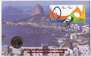 FDC-M (não oficial) Entrega da Bandeira Paralímpica Rio 2016