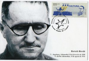 2013 Máximo postal Bertold Brecht