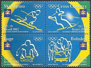 2002 XIX Jogos Olímpicos de Inverno - Mint (quadra)