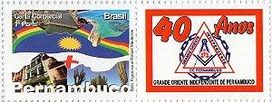 2013 40 anos do Oriente Independente de Pernambuco - Selo Personalizado SP (mint)