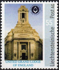 2017 Liechtenstein 300 anos da Grande Loja Unida da Inglaterra selo personalizado autoadesivo